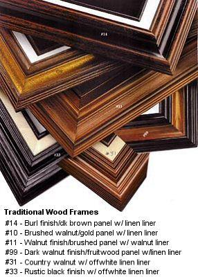 Custom Framing For Your Original Pastel Portrait Paintings
